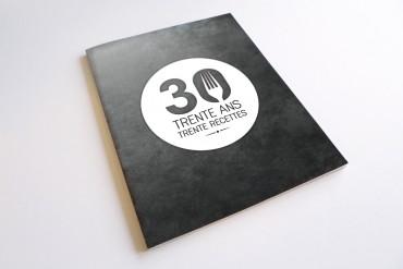 Livre de recettes ''Trente ans, trente recettes''