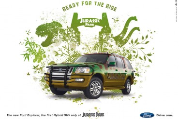 Affiche ''Ford Explorer Jurassic Park Edition''
