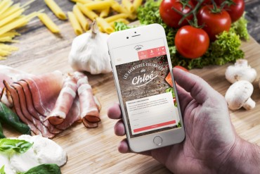 Site web ''Les Aventures culinaires de Chloé''